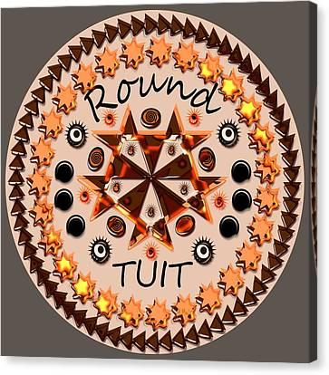 Round Tuit Canvas Print by Anastasiya Malakhova