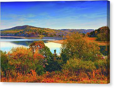 Round Valley State Park 4 Canvas Print by Raymond Salani III