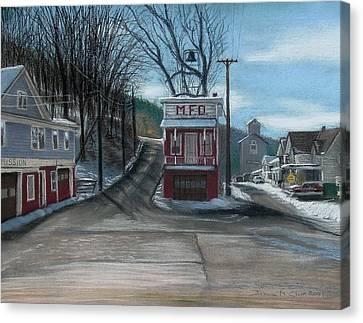 Route 6 Meshoppen Pa Canvas Print by John Clum