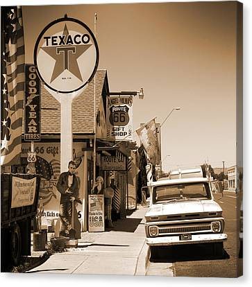Route 66 - Angel And Vilma's Canvas Print by Mike McGlothlen