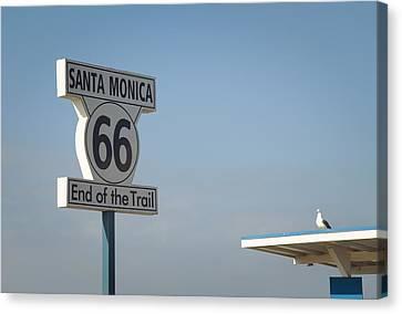 Route 66 Canvas Print by Fraida Gutovich