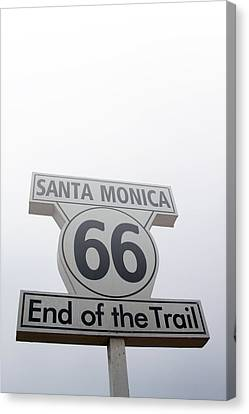 Route 66 Santa Monica- By Linda Woods Canvas Print by Linda Woods