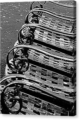 Row Of Chairs Canvas Print by Ranjini Kandasamy