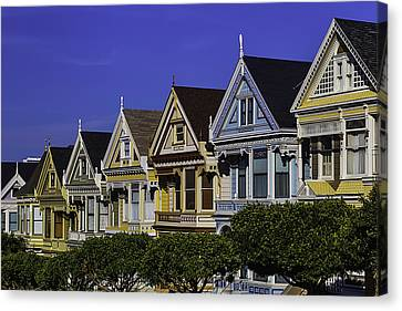 Row Of Painted Ladies Canvas Print by Garry Gay