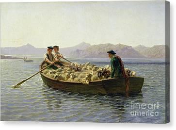 Rowing Boat Canvas Print by Rosa Bonheur