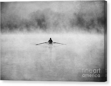Rowing On The Chattahoochee Canvas Print by Darren Fisher