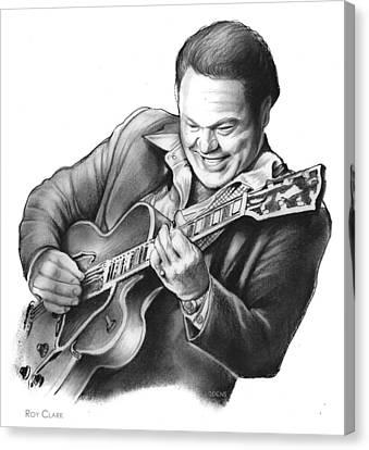 Roy Clark Canvas Print by Greg Joens