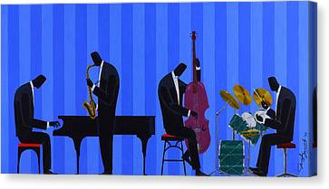 Royal Blues Quartet Canvas Print by Darryl Daniels