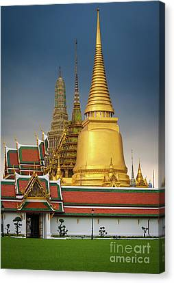 Royal Grand Palace Entrance Canvas Print by Inge Johnsson