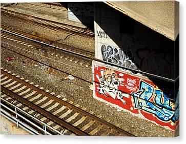 Rr Track Art Canvas Print by Karol Livote