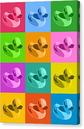 Rubber Ducks Canvas Print by Michael Tompsett