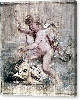 Rubens: Cupid On Dolphin Canvas Print by Granger