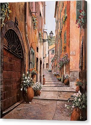 rue Malonat in  Nice  Canvas Print by Guido Borelli