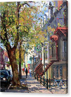 Rue St Denis Montreal Canvas Print by Roelof Rossouw