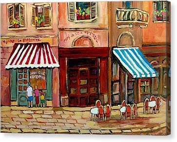 Rue St Paul Montreal Canvas Print by Carole Spandau