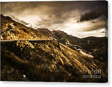 Rugged And Intense Mountain Background Canvas Print by Jorgo Photography - Wall Art Gallery