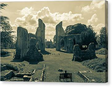 Ruins Of Glastonbury Abbey L Canvas Print by Jacek Wojnarowski