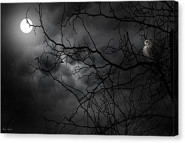 Ruler Of The Night Canvas Print by Lourry Legarde