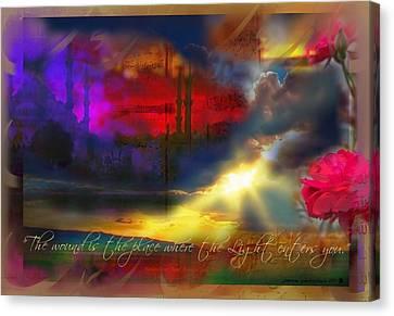Rumi Rumination-1 Canvas Print by Seema Sayyidah