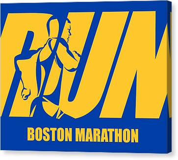 Run Boston Marathon Canvas Print by Joe Hamilton