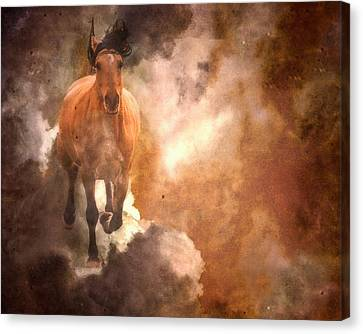 Run With Thunder Canvas Print by Ron  McGinnis