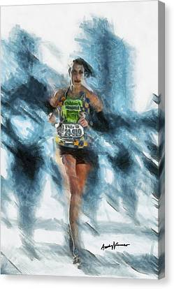 Runner Canvas Print by Anthony Caruso