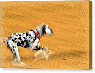 Running In The Dog Park Canvas Print by Kae Cheatham