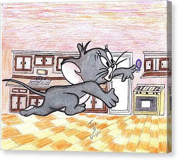 Running Little Mouse  Canvas Print by Jose humberto Arvizo orozco