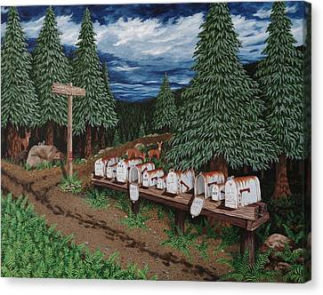 Rural Delivery Canvas Print by Katherine Young-Beck