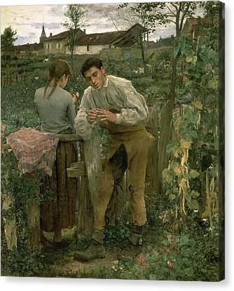 Rural Love Canvas Print by Jules Bastien Lepage