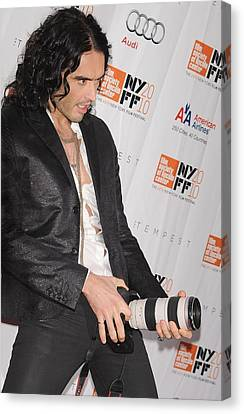 Russell Brand At Arrivals For 48th New Canvas Print by Everett