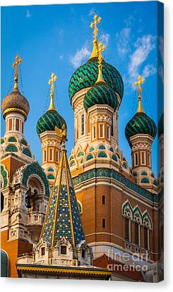 Russian Cupolas Canvas Print by Inge Johnsson