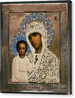 Russian Icon: Mary Canvas Print by Granger
