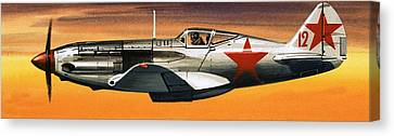 Russian Mikoyan-gurevich Fighter Canvas Print by Wilf Hardy