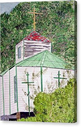 Russian Orthodox In Hoonah Canvas Print by Larry Wright