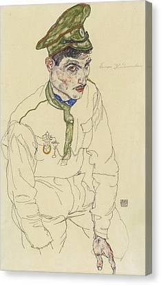 Russian War Prisoner Canvas Print by Egon Schiele
