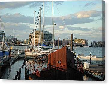 Rusted Out At Locust Point  Canvas Print by Chet Dembeck