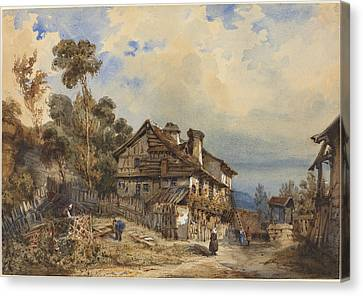 Rustic Landscape Canvas Print by French 19th Century