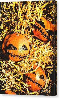 Rustic Rural Halloween Pumpkins Canvas Print by Jorgo Photography - Wall Art Gallery