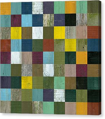Rustic Wooden Abstract Canvas Print by Michelle Calkins