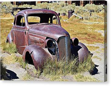Rusty Chevy Coupe Canvas Print by Randy Dyer