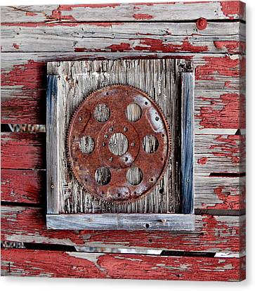 Rusty Gear Canvas Print by Art Block Collections