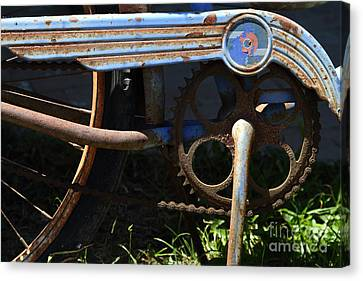 Rusty Old Bicycle . 7d15946 Canvas Print by Wingsdomain Art and Photography