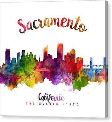 Sacramento California 23 Canvas Print by Aged Pixel