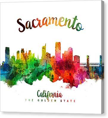 Sacramento California 24 Canvas Print by Aged Pixel