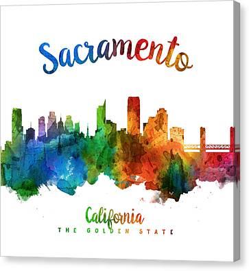 Sacramento California 25 Canvas Print by Aged Pixel