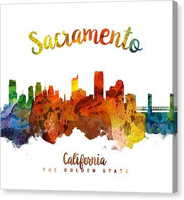 Sacramento California 26 Canvas Print by Aged Pixel
