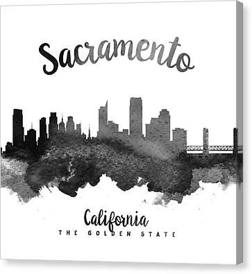Sacramento California Skyline 18 Canvas Print by Aged Pixel
