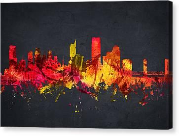 Sacramento Cityscape 07 Canvas Print by Aged Pixel