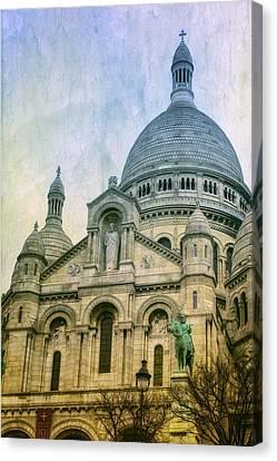 Sacre Coeur Paris Canvas Print by Joan Carroll